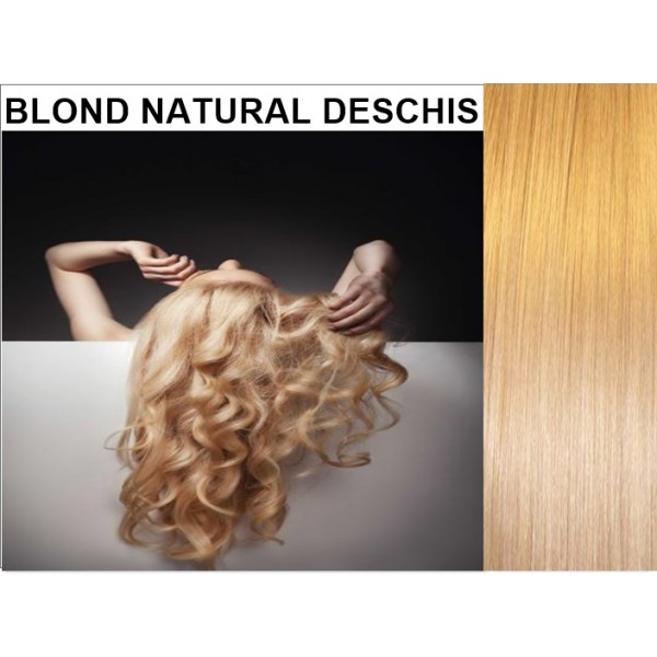 Set Easy Clip-On DeLuxe Blond Natural Deschis