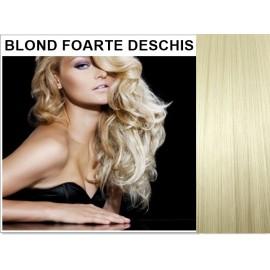 Extensii Clip-On Drept Blond Foarte Deschis