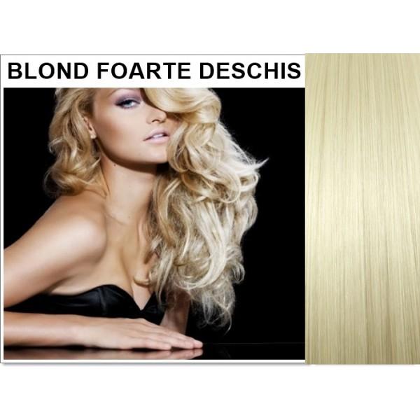 Extensii Nanoring Blond Foarte Deschis