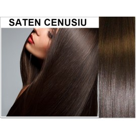 Extensii Clip-On Diamond Saten Cenusiu