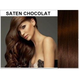 Extensii Clip-On Diamond Saten Chocolat