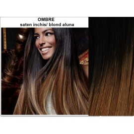 Extensii Clip-On Diamond Ombre Saten Inchis / Blond Aluna