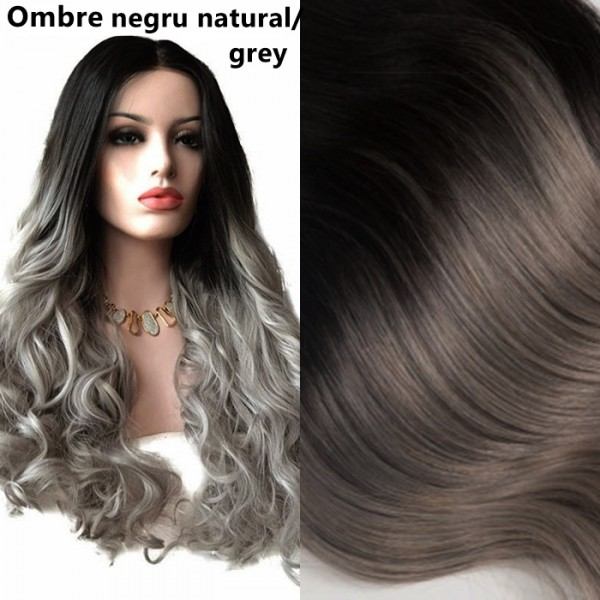 Front Lace Ombre Negru Natural / Grey