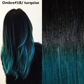 Easy Clip-On Ombre #1B / Turqoise