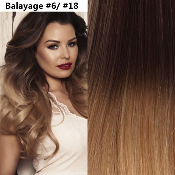 Extensii Clip-On Drept Balayage #6 / #18