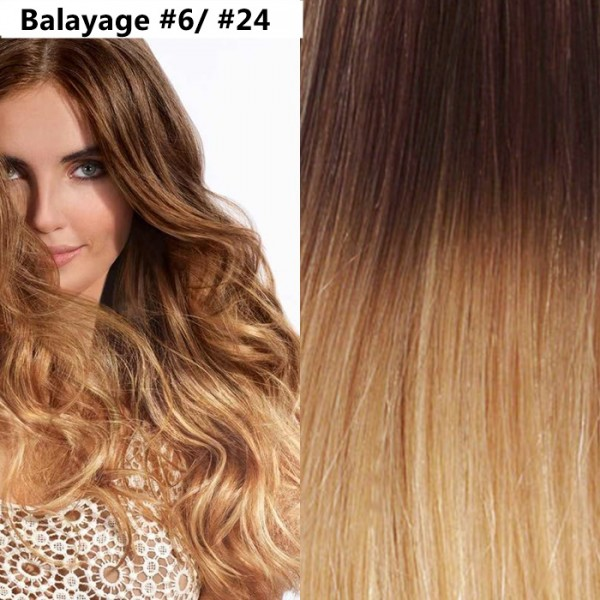 Set Easy Clip-On DeLuxe Balayage #6 / #24