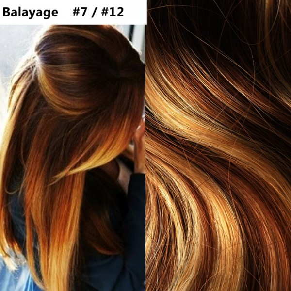 Set Easy Clip-On DeLuxe Balayage #7 / #12