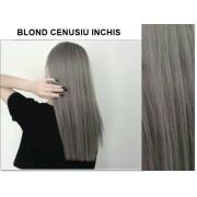 Extensii clip-on diamond  Blond Cenusiu Inchis