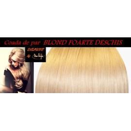 Cozi de Par DeLuxe Blond Foarte Deschis