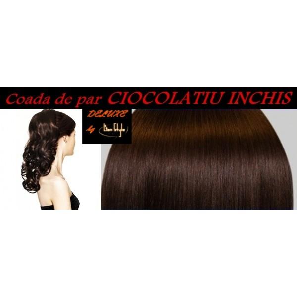 Cozi de Par DeLuxe Ciocolatiu Inchis