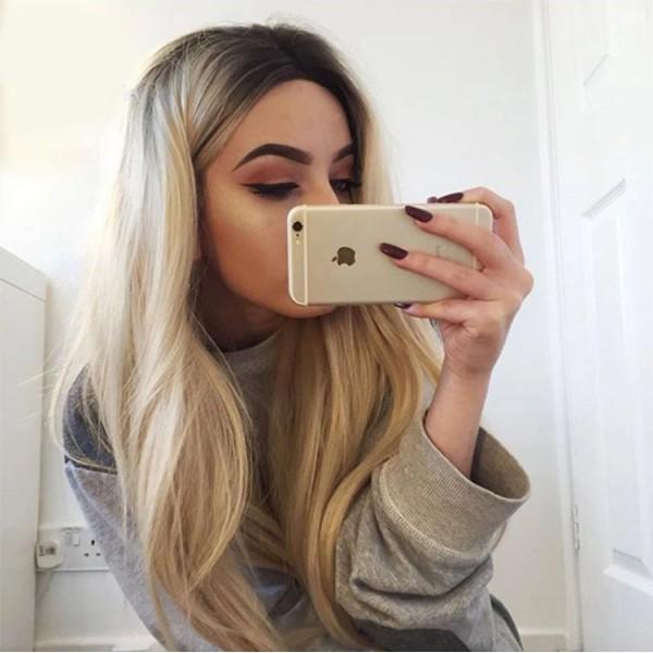 Peruca Sensual Blonde Ombre Par Natural Remy