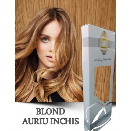 White Platinum Blond Auriu Inchis