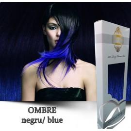 White Platinum Ombre Negru Blue