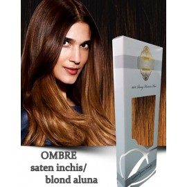 White Platinum Ombre Saten Inchis Blond Aluna