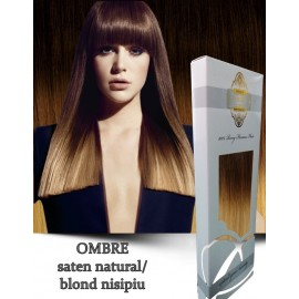 White Platinum Ombre Saten Nat Blond Nisip